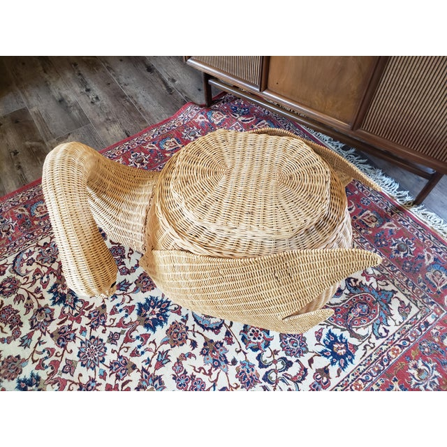 Vintage Wicker Swan Table/Stool For Sale - Image 6 of 8