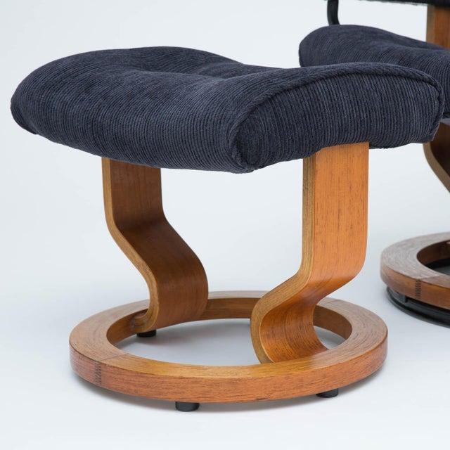 Ekornes ASA Vintage Teak Ekornes Chair and Ottoman For Sale - Image 4 of 11