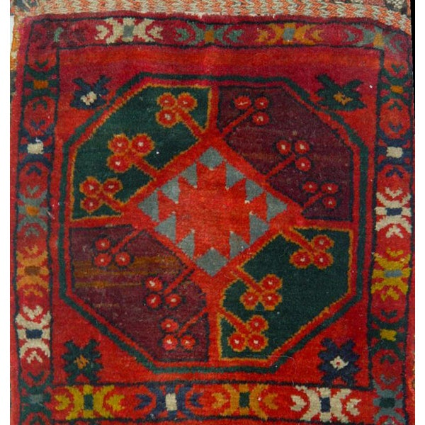 "Old Uzbek Small Pile Rug Napramash #7 - 17""x 42"" - Image 2 of 4"