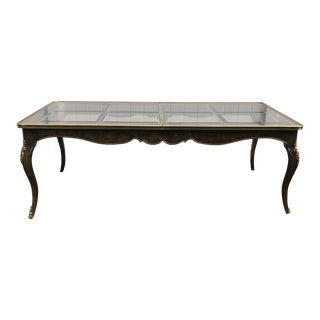 Mastercraft Burl Wood Dining Table