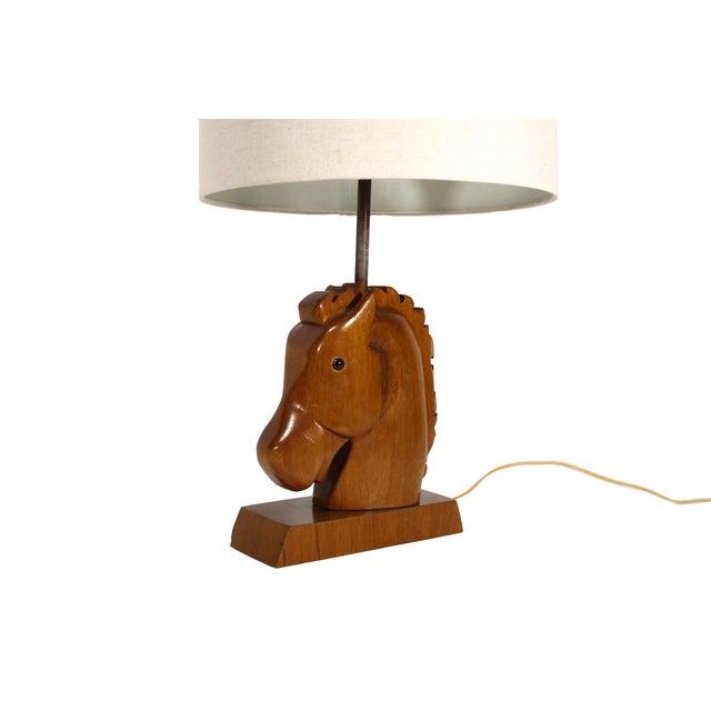 Wooden Head Table ~ Wooden horse head table lamp chairish