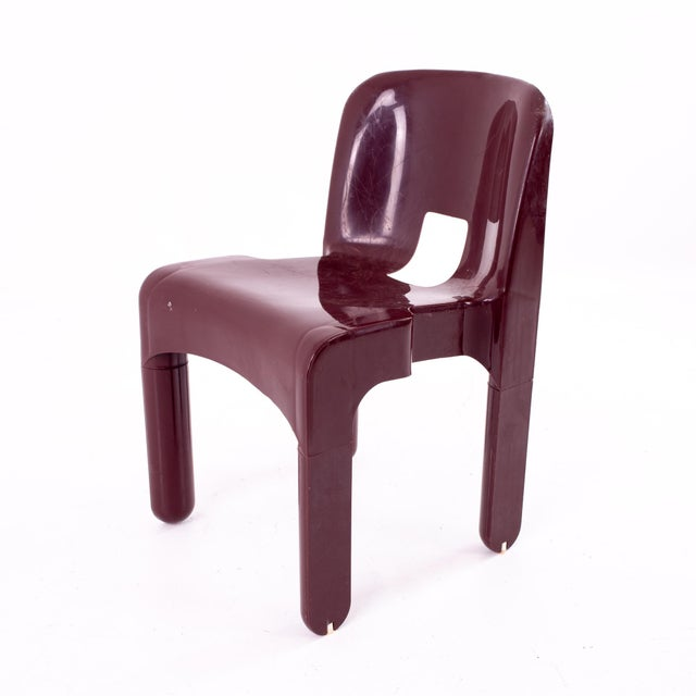 Joe Colombo Kartell Mid Century Plastic Chairs - Pair For Sale - Image 9 of 10