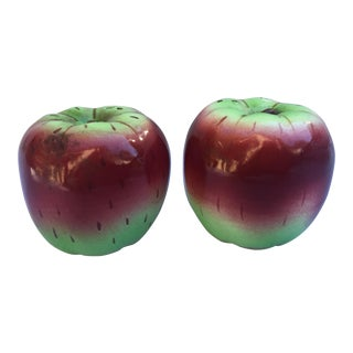 1950s Figurative Apple Salt and Pepper Shakers - a Pair For Sale