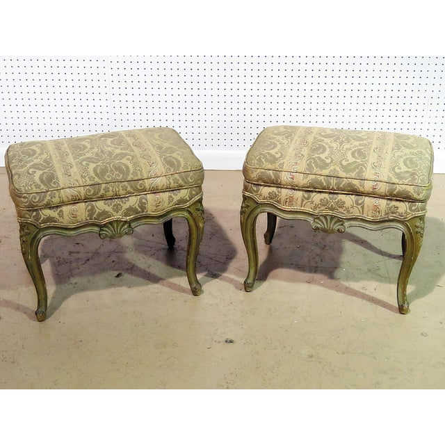 Pair of Louis XV Style Benches For Sale In Philadelphia - Image 6 of 6