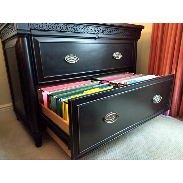 Elegant Two-Drawer Lateral File Cabinet Credenza - (Aspenhome: Young Classics Office Collection) For Sale In Orlando - Image 6 of 13