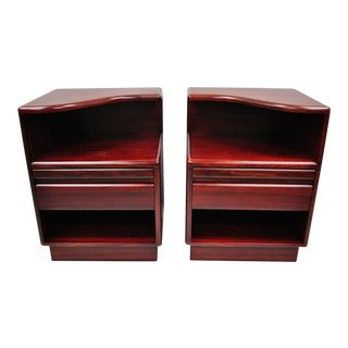 Mid Century Modern Danish Modern Rosewood Nightstands Tables by Mobican - a Pair For Sale