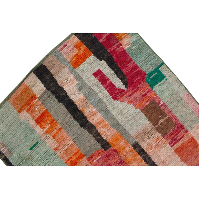 """Abstract Moroccan Berber Wool Rug- 7'11""""x5'8"""" For Sale - Image 3 of 5"""