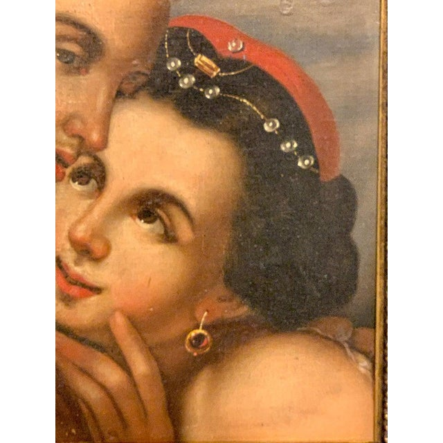 Near Pair of Old Master Romantic Portraits For Sale - Image 4 of 10