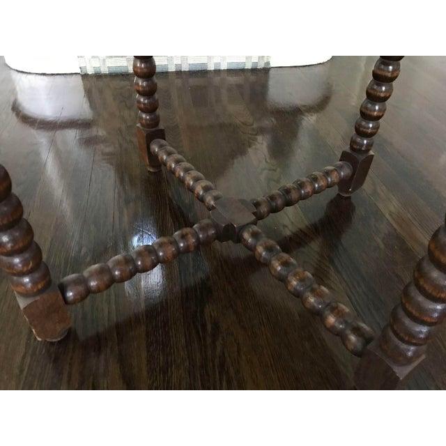 Round Wood Bobbin Table - Image 4 of 6