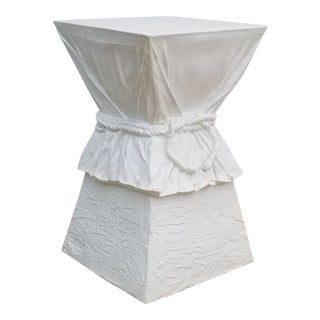 1970s Hollywood Regency John Dickinson Attribute Plaster Pedestal For Sale