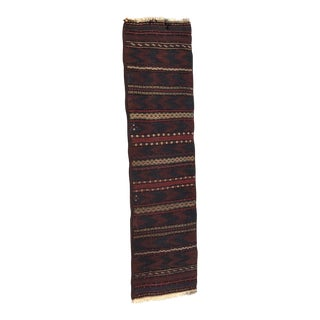 Embroidered Kilim Runner - 2′8″ × 9′8″ For Sale