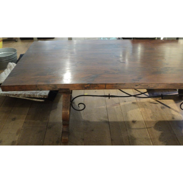 Antique Baroque Large Harvest Table - Image 4 of 11