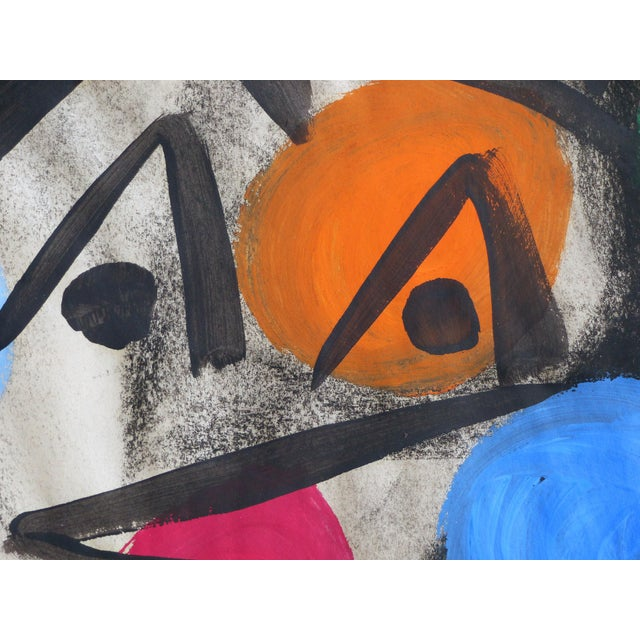 Paper 1960s Abstract Mixed Media Painting by Peter Robert Keil For Sale - Image 7 of 9