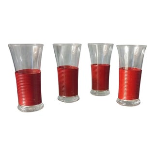 Mid Century Art Deco Tulip Shaped Cocktail Glasses - Set of 6 For Sale