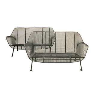 Russell Woodard Mid-Century Modern Sculptura Loveseats — a Pair For Sale