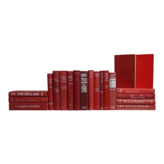 Midcentury Garnet & Ice Book Set, S/20 For Sale