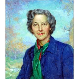 "Abel George Warshawsky ""Portrait of the Artist Doris Rohr"" Painting"
