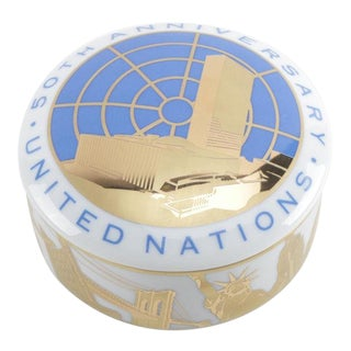 Tiffany United Nations 500th Anniversary Trinket Box For Sale