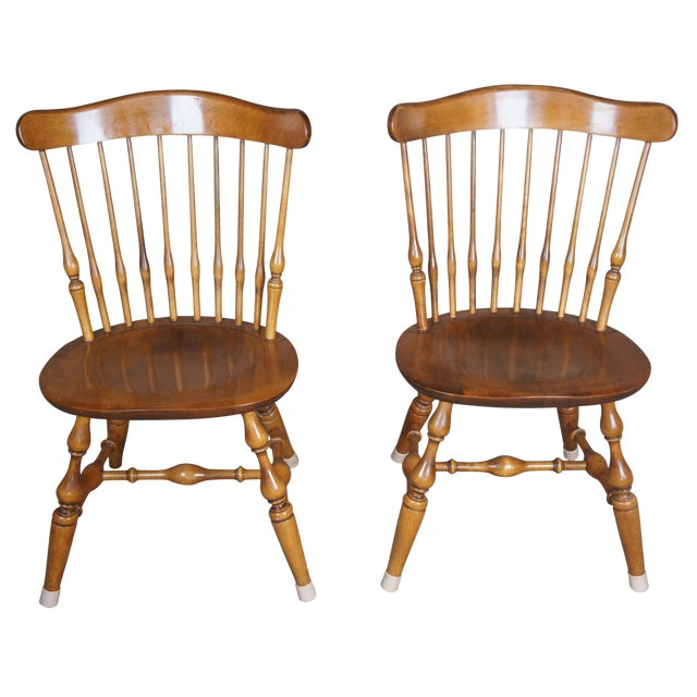 Vintage Nicholes & Stone Dining Chairs-a Pair For Sale