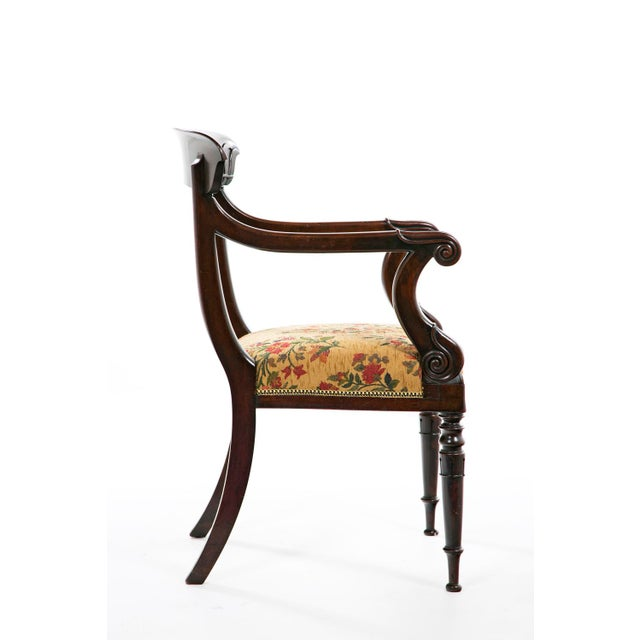 French French Restoration Mahogany Armchair For Sale - Image 3 of 9