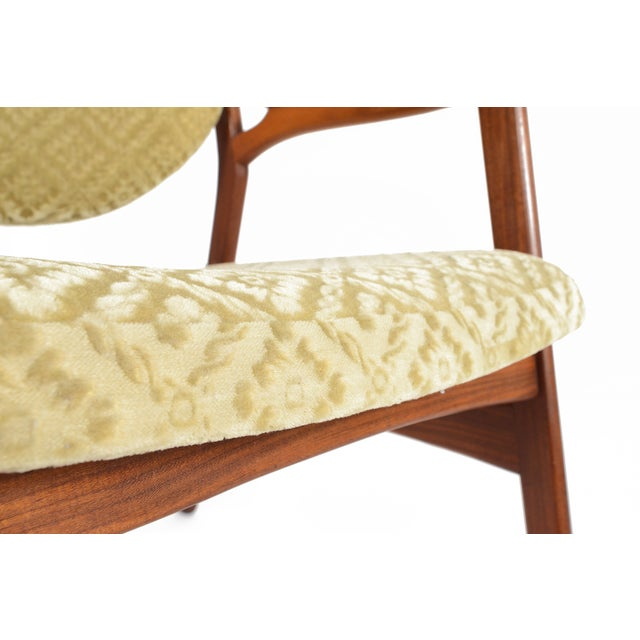 Danish Modern Rosewood & Mohair Armchair - Image 10 of 10