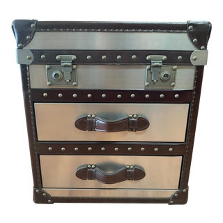 Lazzaro Steamer Trunk Side Table For Sale