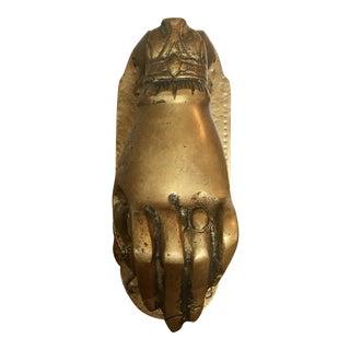 Brass Hand Door Knocker For Sale
