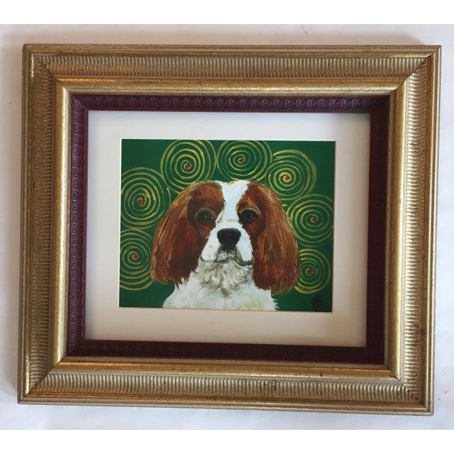 King Charles Spaniel Dog Print by Judy Henn Framed - Image 2 of 5