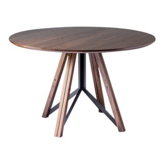 Trestle Dining Table - Walnut For Sale