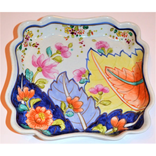 1970s 1970s Chinoiserie Tobacco Leaf Trinket Tray For Sale - Image 5 of 6