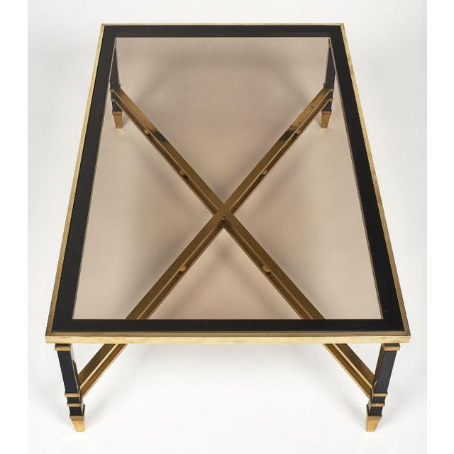 Gold Italian Modernist Coffee Table For Sale - Image 8 of 12