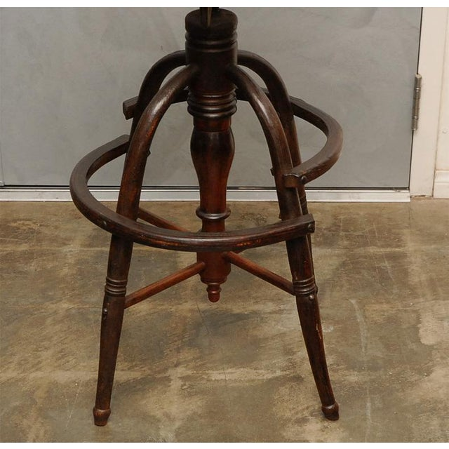 American Classical Revolving High Clerks Stool For Sale - Image 3 of 8
