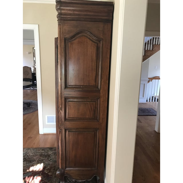 French Provincial Carved Wood Armoire - Image 8 of 8