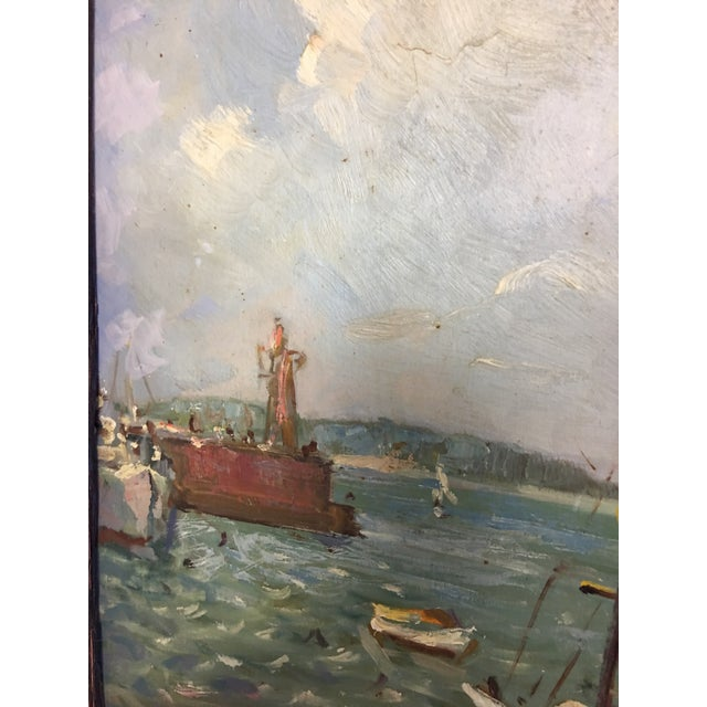 Ivan Denysenko Harbor Painting For Sale - Image 7 of 9
