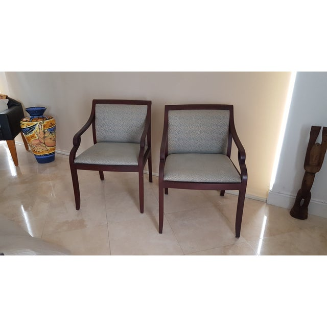 David Edward Accent Chairs - A Pair - Image 2 of 7