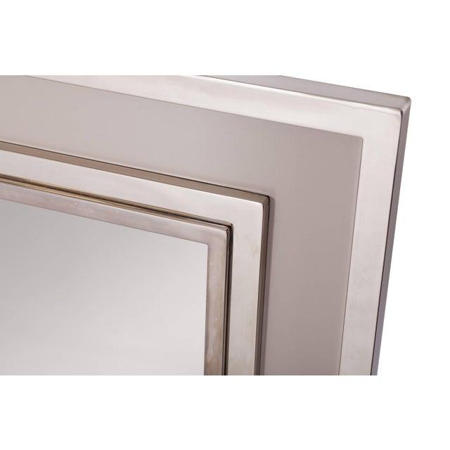 Large Chromed Maison Jansen Mirror For Sale - Image 4 of 8