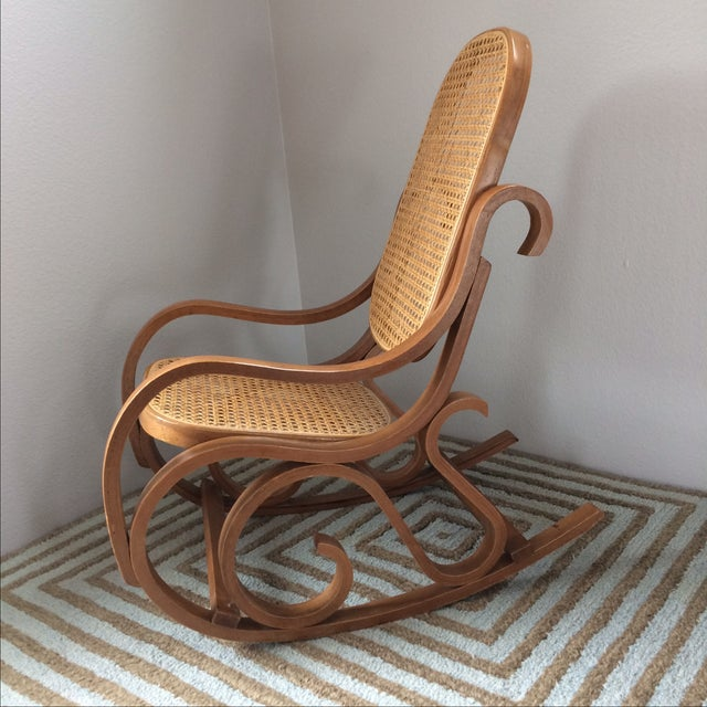 Vintage Bentwood & Cane Child's Rocking Chair - Image 2 of 10