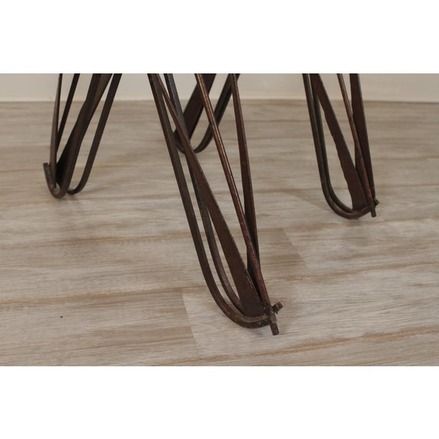 2000 - 2009 Modern Handmade Wrought Iron Side Tables For Sale - Image 5 of 10