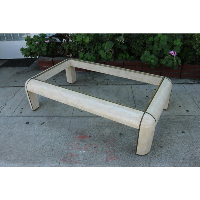 Maitland - Smith 1980s Hollywood Regency Maitland Smith Coffee Table For Sale - Image 4 of 9