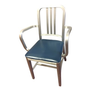 1990s Industrial Emeco Navy Side Chair For Sale