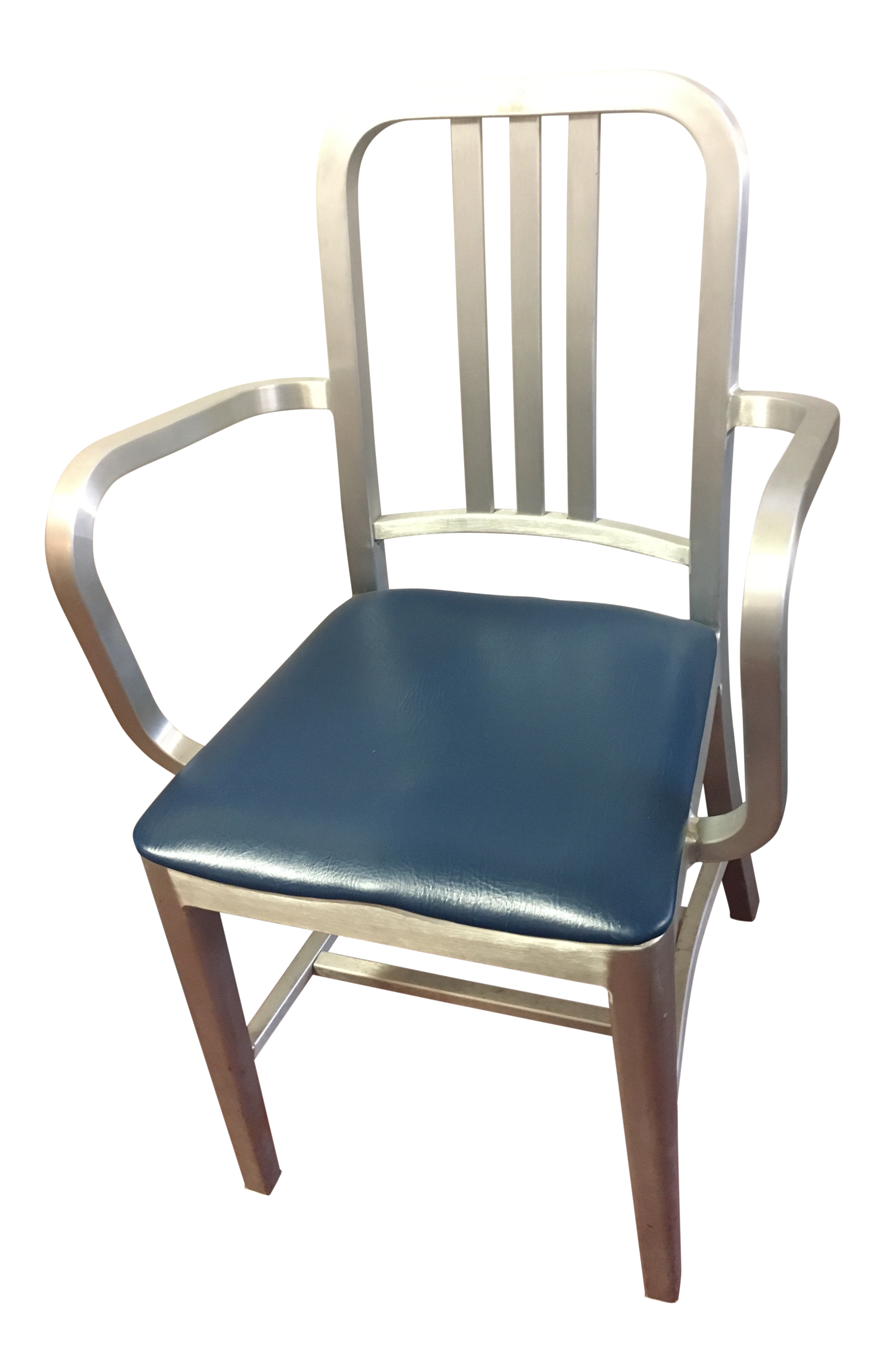 1990s Industrial Emeco Navy Side Chair