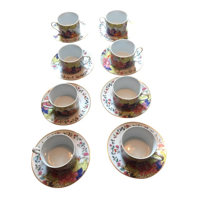 Tobacco Leaf Cups & Saucers - Set of 6 - Image 1 of 5