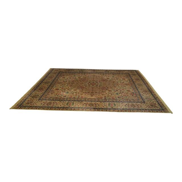 "Karastan Samovar Tea Wash Tabriz Medallion 8' 8"" x 10' Room Size Rug For Sale"