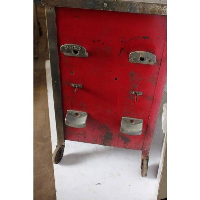 Art Deco Auto Shop Metal Cart/Bar Cart - Image 3 of 4