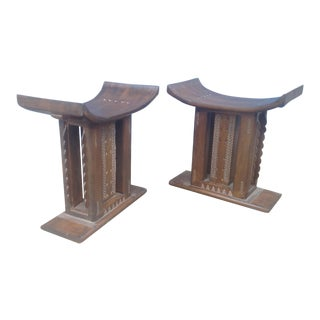 Modern Mid Century Style Stools- A Pair For Sale