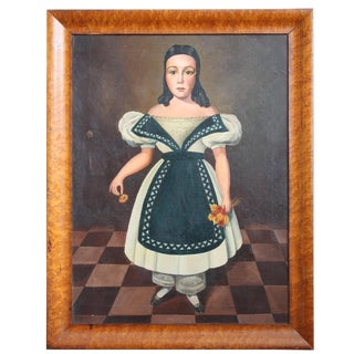 Spanish Colonial Painting of a Girl