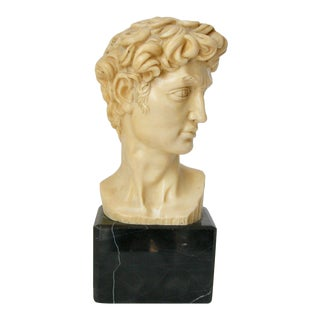 1960s Traditional David A. Santini Head of David Statue on Stand