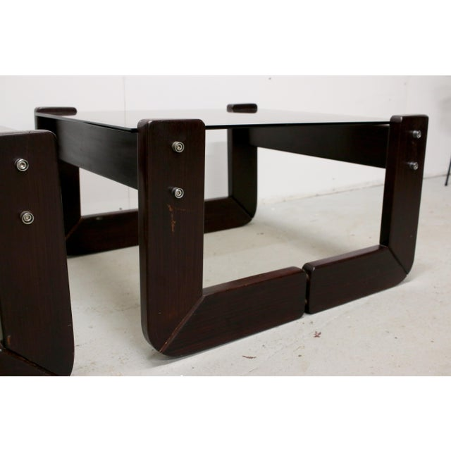 1970s Vintage Brazilian Percival Lafer Jacaranda Rosewood Side Tables - a Pair For Sale - Image 5 of 12