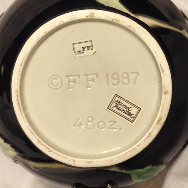 Fitz and Floyd Midnight Rose Tea Pot, Sugar, & Creamer For Sale In Atlanta - Image 6 of 8
