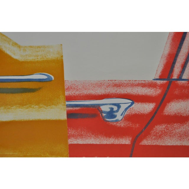 """James Rosenquist 1960s Vintage """"Roll Down"""" Color Lithograph by James Rosenquist For Sale - Image 4 of 7"""